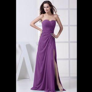 Dresses & Skirts - A-line Sweetheart Chiffon Bridesmaid Dress